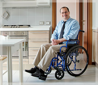 accommodations for disabled man in wheelchair