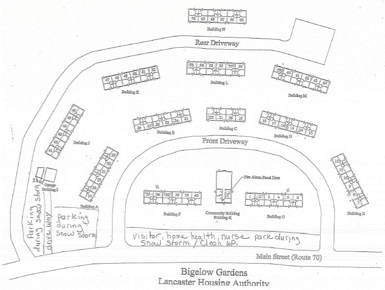 Map of Bigelow Gardens